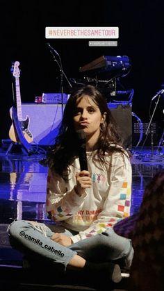 Camila Cabello na Never Be The Same Tour.