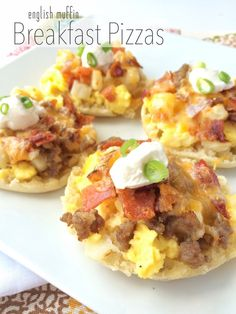 English Muffin Breakfast Pizzas - Together as Family