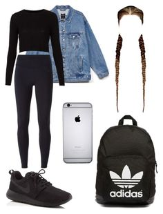 """#268: back to school"" by tamar4eveselinoska on Polyvore featuring Topshop, NIKE and adidas Originals"