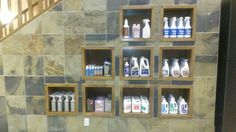 We sell all your flooring cleaning supplies here at our Dannburg portland street location, Calgary. Portland Street, Calgary, Wine Rack, Showroom, Cleaning Supplies, Flooring, Home Decor, Bottle Rack, Cleaning Agent