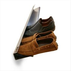 This is for the men's shoe closet, or women if you wear a lot of flats. Simple Ideas That Are Borderline Genius (24 Pics)