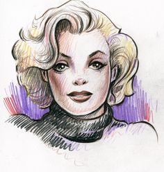 Marilyn sketch by MJBivouac on deviantART  | This image first pinned to Marilyn Monroe Art board, here: http://pinterest.com/fairbanksgrafix/marilyn-monroe-art/ || #Art #MarilynMonroe