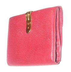 ea30f22ef0b Gucci Red Textured Leather with Gold Belt Buckle Hinged Clasp Early Wallet  - Tradesy Gucci Wallet