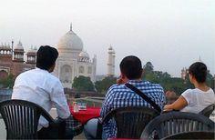 Tea with a view of Taj Mahal   Padhaaro