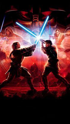 "Star Wars: Episode III - Revenge of the Sith Phone Wa. - Wallpaper for ""Star Wars: Episode III – Revenge of the Sith"" Star Wars Jedi, Film Star Wars, Star Wars Padme, Nave Star Wars, Star Wars Fan Art, Star Wars Poster, Anakin Vs Obi Wan, Anakin Vader, Darth Vader"
