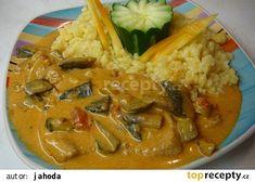 Novohradský vepřový plátek recept - TopRecepty.cz Thai Red Curry, Ethnic Recipes, Food, Essen, Meals, Yemek, Eten