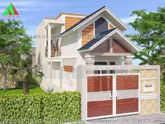 Mẫu thiết kế nhà đẹp có gác lửng 5x16,5 mặt tiền mái thái M49- 550 triệu Abu Ahmed, Home Fashion, Lunges, House Plans, Mansions, House Styles, Outdoor Decor, Villas, Home Decor