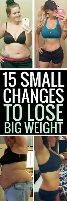 15 small tweaks you can make to your daily routine to lose a lot of weight - it's that easy!