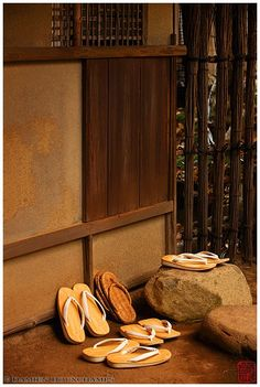 Sandals left at the Entrance of a Tea Room, Entoku-In Temple, Japan by Damien Douxchamps