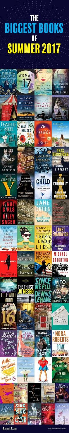 A great book list for your summer 2017 reading list. Including new popular books and beach reads you don't want to miss.