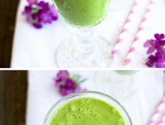 recette-revitalisant-smoothie-vert-avec-de-la-banane-et-gingembre