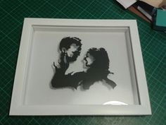 Sample/tester portrait for a bespoke piece by Mrs Scuffer's Handcut
