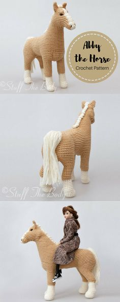 Abby The Horse Amigurumi Pattern | Pony Crochet Pattern | Plushie Toy | Birthday Present | Baby Shower | Nursery Decor #ad #crochettoys #crochethorse #amigurumi