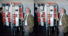 Karl Heinz-Hatle with his stereo tower at Paris Congress 1986  by Paul Wing b | by reel3d1