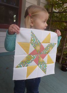 Starry Pinwheel Block Pattern