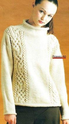 Вязаные спицами свитера. Подборка.