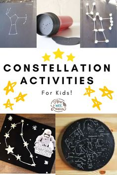 This constellation theme is full of fun and learning for your whole family. Learn about the stars, planets, constellations and space! Planets Activities, Space Activities For Kids, Kid Activites, Educational Activities For Preschoolers, Preschool Themes, Kindergarten Activities, Preschool Activities, Astronomy Science, Science Fun