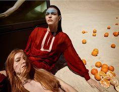 Photography: Luigi & Iango. Styled by: Paul Cavaco. Hair: Luigi Murenu. Makeup: Yumi Lee. Model:Vittoria Ceretti.
