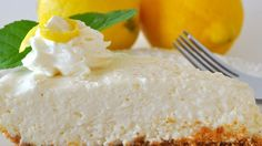 Cream cheese, condensed milk, lemon juice and rind is stirred up in a bowl until smooth, poured into a graham cracker crust, and then chilled.