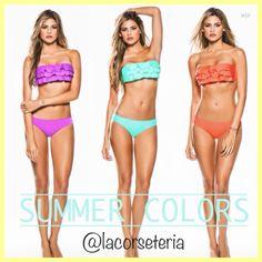 Ref. 510 $100.000 Violeta-Menta-Naranja Tallas S-M-L Bikinis, Swimwear, Summer Outfits, Lingerie, Facebook, Clothes, Fashion, Mint, Orange