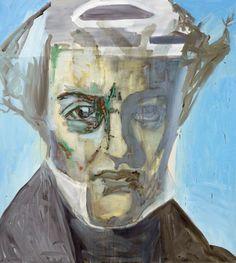 Denis Castellas - kierkegaard Grand K, 2008 180x200 cm Oil on canvas, collection MAMAC
