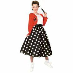 Polka Dot Rocker Adult Costume 1950's (aff link)