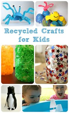 Recycled Crafts for Kids {Discover & Explore Linky}
