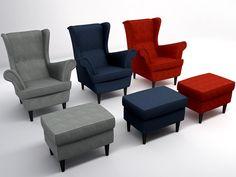 obj wing chair - STRANDMON Wing chair... by vortex_3dm