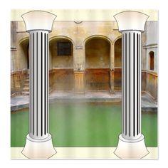 Roman Baths Shower Curtain by Inspirationz Store - CafePress Custom Shower Curtains, Bathroom Shower Curtains, Fabric Shower Curtains, Cheer Cakes, Shower Rod, Baths, Roman, Decorating, Dekoration