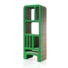 Dickens Green Cardboard Bookshelf  FASHION FOR HOME