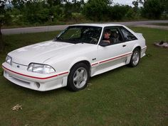 1989 Ford Mustang GT. I traded a 1986 Mustang GT for an 89 but the 86 was more fun to drive. Looking at them now, the 86 was a much better looking car.
