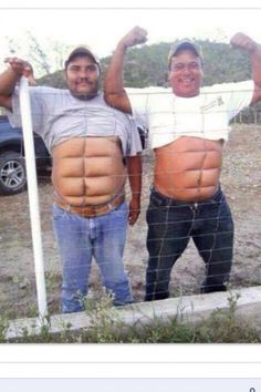 Hahaha! That's one way to get a six pack!