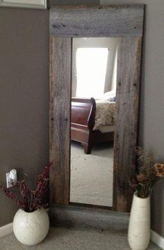 Full Length Barn Wood Mirror For Bedroom by juliette