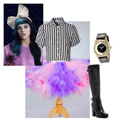 """Melanie Martinez inspired outfit"" by jessikha-brianna-block on Polyvore featuring Glamorous, Frye and Marc by Marc Jacobs"