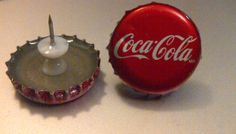 Coca-Cola Bottle Template | Coca Cola Recycled Vintage Bottle Cap Push-Pins: Set of 2 - Thumbnail ...