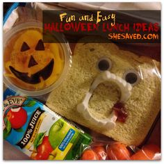 I love to come up with fun Halloween Lunch Ideas for my kiddos! Here are a few fun ideas to make your kids smile when they open their lunch on Halloween!