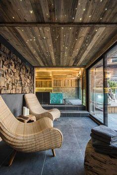 Chalet Interior, Spa Interior, Interior Design, Showroom Design, Chalet Design, House Design, Bar Design, Modern Saunas, Sauna House