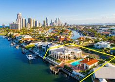 Paradise Waters, Gold Coast, Qld., Australia / This mansion and separate Mediterranean-inspired guest residence boast commanding main river position.
