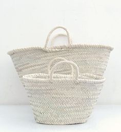 all white baskets ~