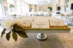 Seating Cards - Gold, Ivory, and Champagne Tampa Palms Country Club Wedding Part 1 – Tampa Wedding Photographer Ashfall Mixed Media