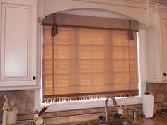 Roman Shades with tassels and trim