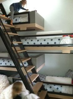 Definitely doing cool bunk beds when my kids share rooms!
