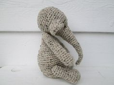 This Adorable Elephant is READY to ship. She loves to be cuddled. She will be great for any stuffed animal lover.  These gorgeous crochet animals