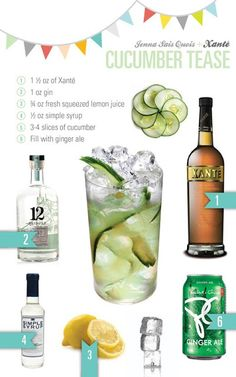 Cocktail recipe - cucumber tease