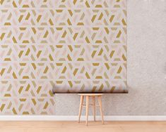 Upgrade your walls with this elegant Mid Century Wall Mural adding an exclusive touch to your personal style and surprise your family and friends. More Wallpaper, Fabric Wallpaper, Geometric Patterns, Cool Patterns, Simple Addition, Temporary Wall, Self Adhesive Wallpaper, Textured Walls, Fabric Material