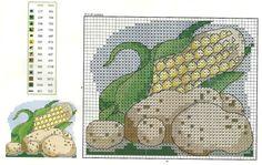 Gráficos Ponto Cruz Cozinha 12
