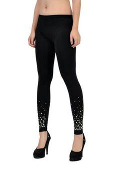 "Soho Apparel Soho Girls 32"" Seamless Long Legging With Bronze/Silver Trim Ss-32Bs-Black Soho Girls. $8.99"