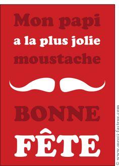 Carte La moustache à papi pour envoyer par La Poste, sur Merci-Facteur !