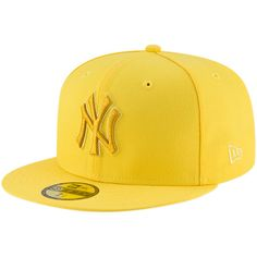 Men s New York Yankees New Era Yellow 59FIFTY League Pop Fitted Hat 0eb92790238