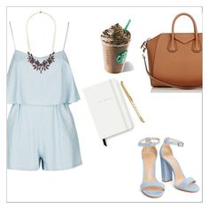 """""""Expressing my feelings in Starbucks"""" by thatgirlwholovesit on Polyvore featuring Charlotte Russe, Givenchy and Kate Spade"""